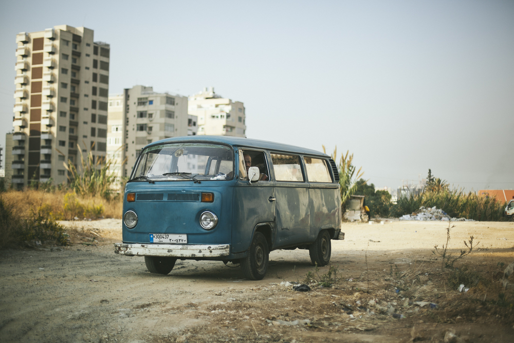 A van with character. Seen at Beirut's suburbs, Lebanon.