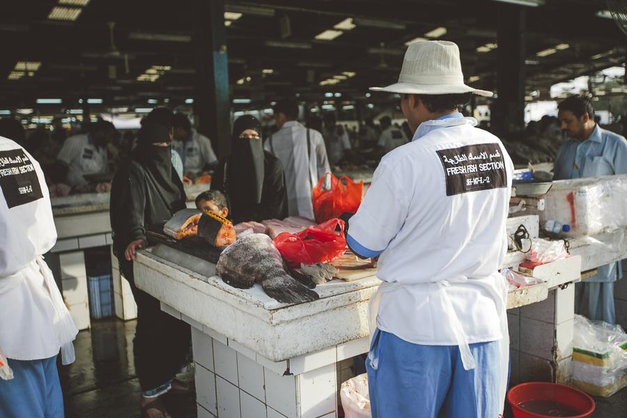 Seen at the fish market, Dubai, UAE.