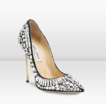 This beautiful shoe is complete with Swarvoski Crystals on it.
