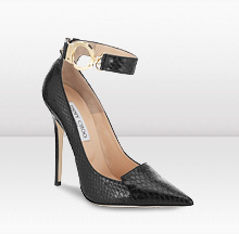 I am loving the hardware on this shoe particularly the handcuff anklet and skeleton key.