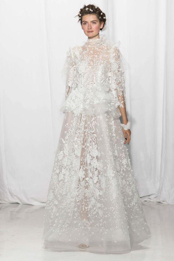 Reem Acra Bridal | Bridal Fall Fashion Show- 2017 (Image Source: Vogue)