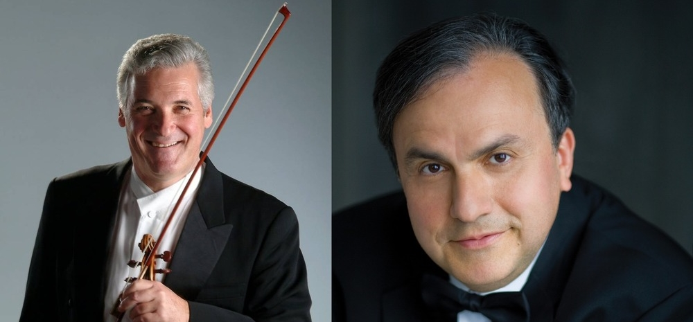 Pinchas Zukerman (left), and Yefim Bronfman (right)