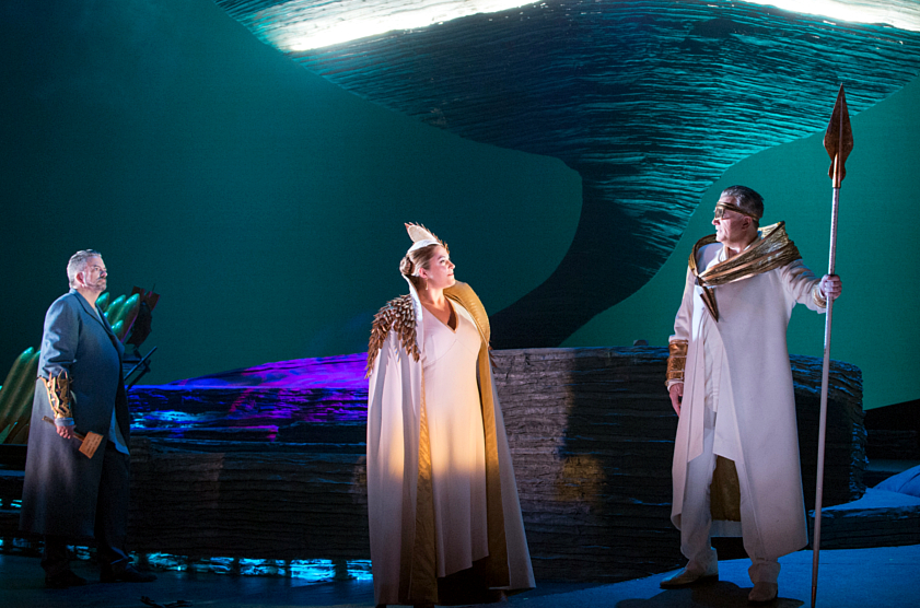 Doug MacNaughton as Donner, Joni Henson as Fricka, John Fanning as Wotan