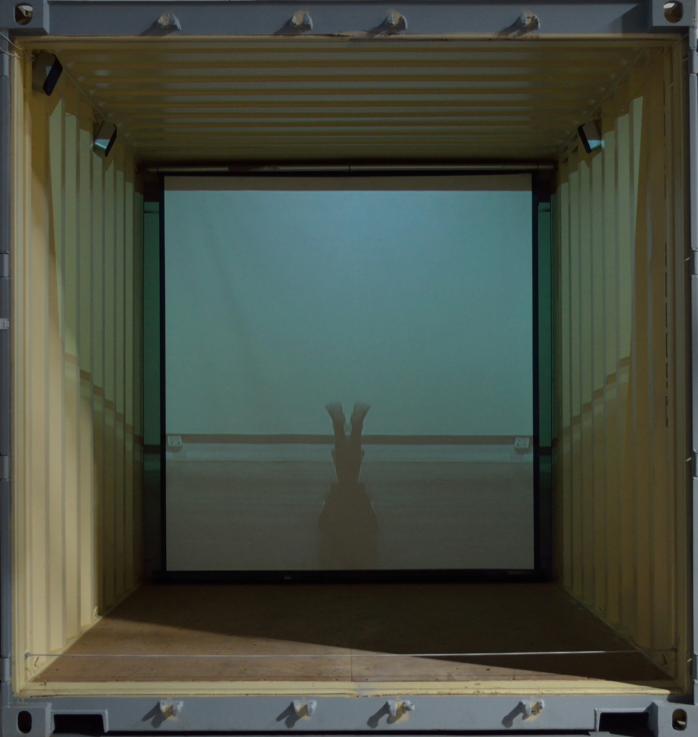 Bonaventure, 2010, video installation in shipping container, 2013 SOMArts, Electronic Pacific exhibition, JC Hoover curator