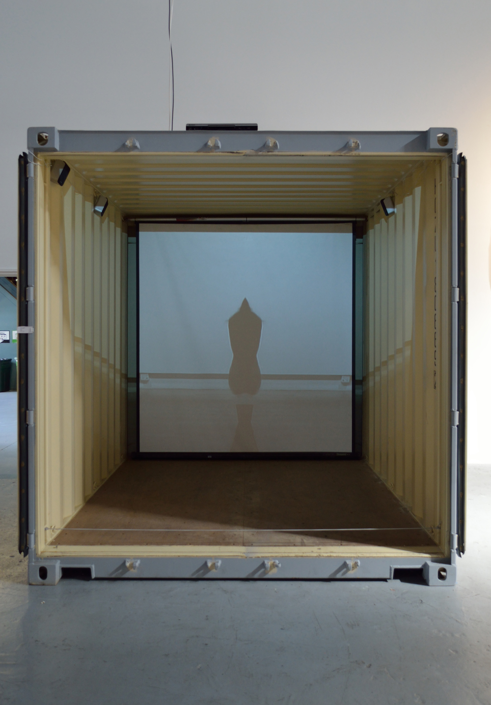 Bonaventure, 2010, video installation in shipping container, 2013 Electronic Pacific, SOMArts
