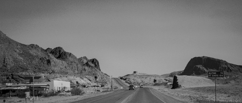 Texas State Highway 118, leaving Study Butte-Terlingua for Alpine, the county seat of Brewster County, and its only city as well.