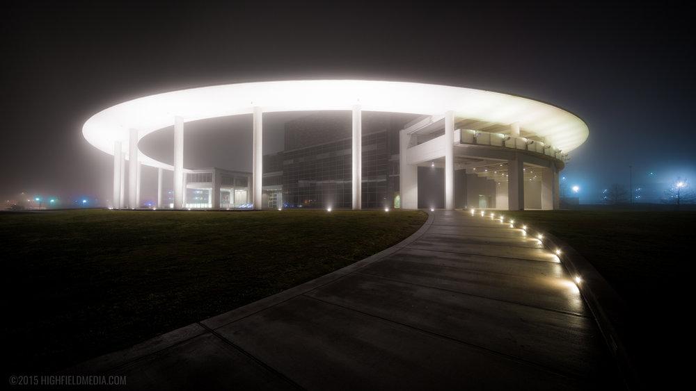 The Long Center in Fog