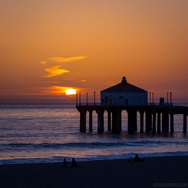 Manhattan Beach, CA  #manhattanbeach #losangeles #lasunset