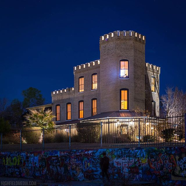 The Castle on Castle Hill after hours #austintx #castlehill #atx