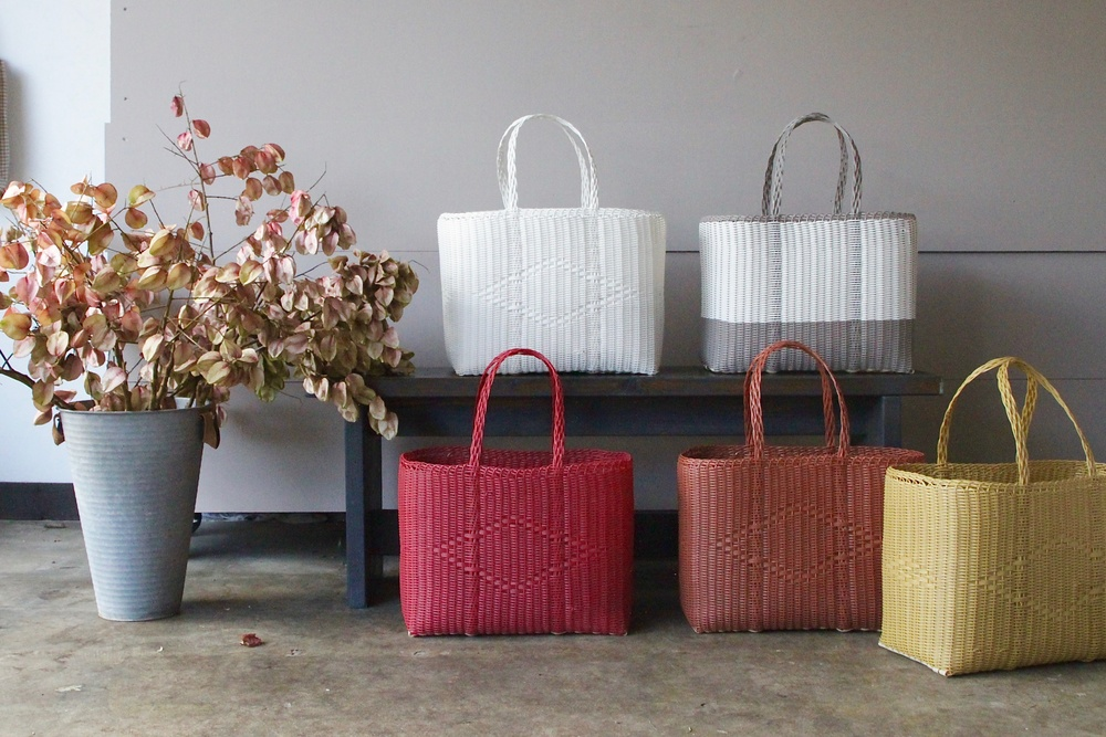 Palorosa tote bags at The Merchant Home studio. (photo credit The Merchant Home)