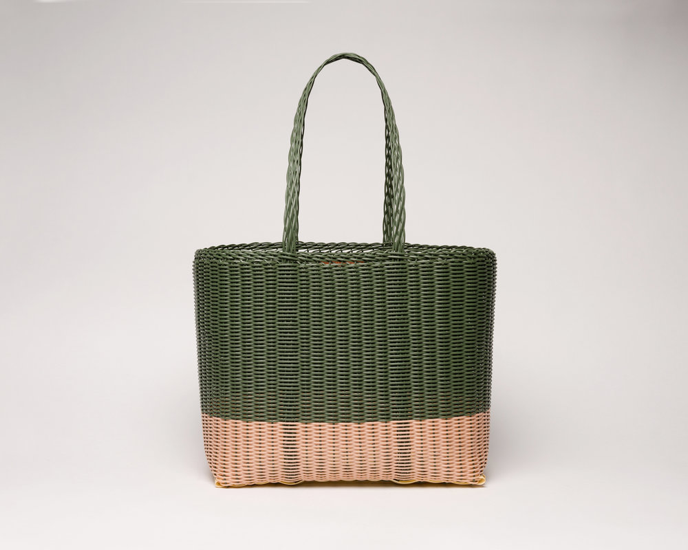Palorosa® Medium Tote bicolor Cactus green and Peach rose