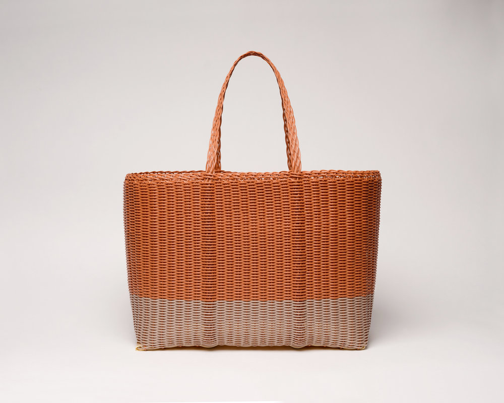Palorosa® Large Tote bicolor Terracotta and Powder beige