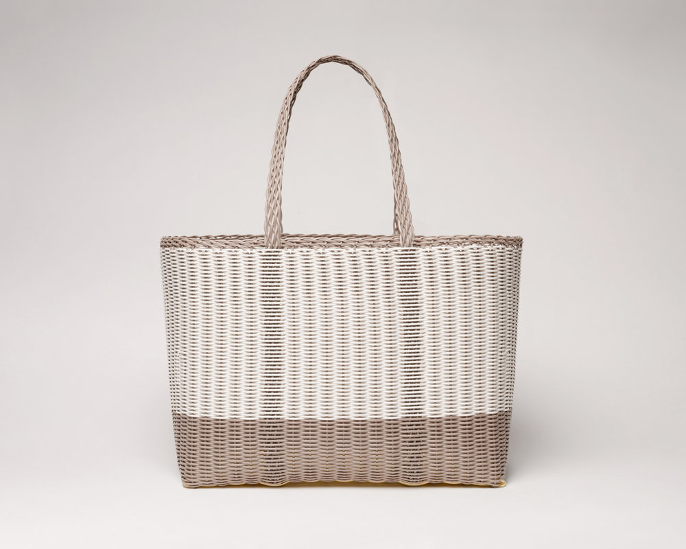 Palorosa® Large Tote bicolor White and Concrete grey
