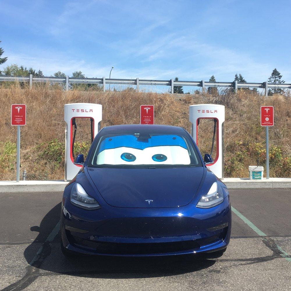 Supercharging at Centralia, WA