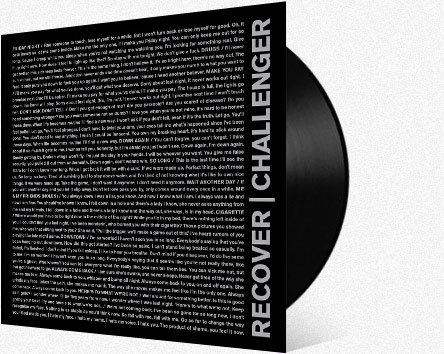 RECOVER     Challenger LP    LTD VINYL (ANIMAL STORE)    DIGITAL (ITUNES)