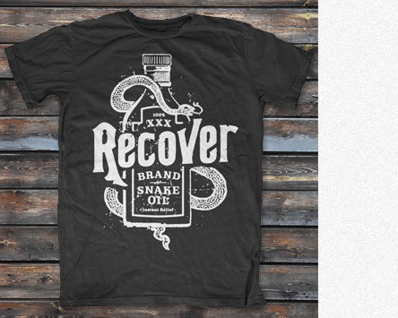RECOVER     Snake Oil T-Shirt    MERCH (ANIMAL STORE)