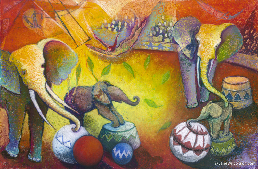 Chagall's Circus Elephants - SOLD