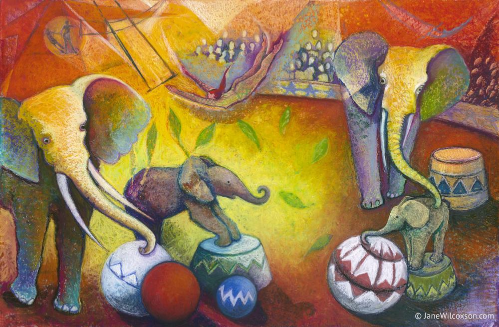Chagall's Circus Elephants
