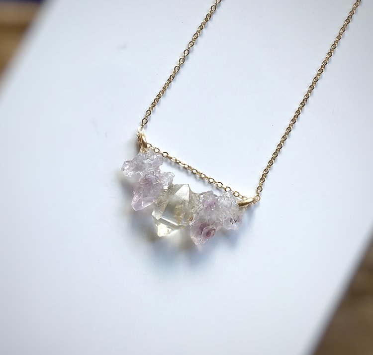 amethyst necklace il crystal fullxfull pendant moon jewelry raw druzy electroformed products