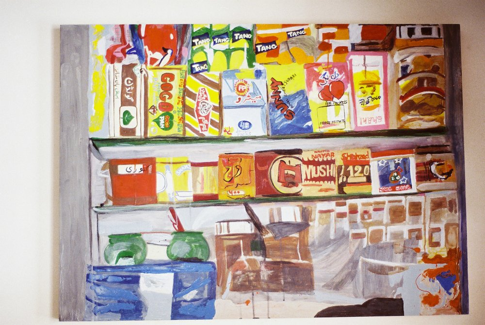 Paan Shop   Oil on Aluminium  88 x64 cms  2013