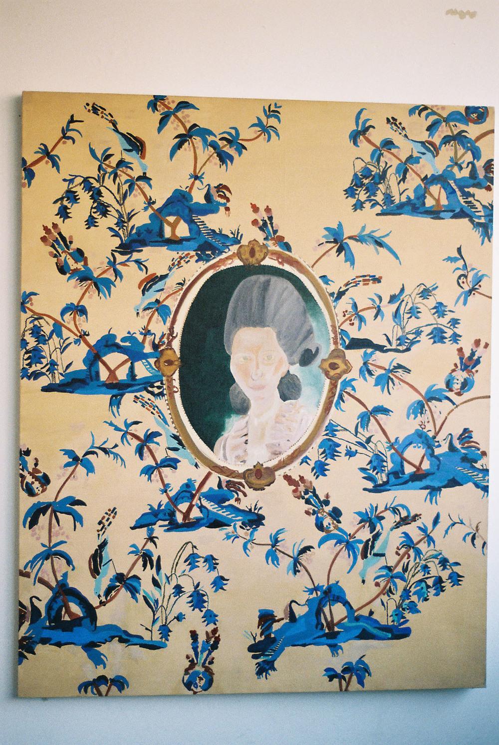 Goethe Museum in Frankfurt   Oil on canvas  107 x 137 cms