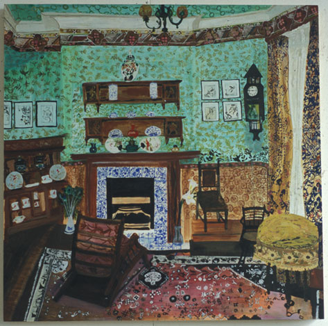 Aesthetic Style Period Room   Oil on Board  85 x 85 cms  2005