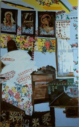 Felijia Curylo's House   Oil on Canvas  107 x 99 cms