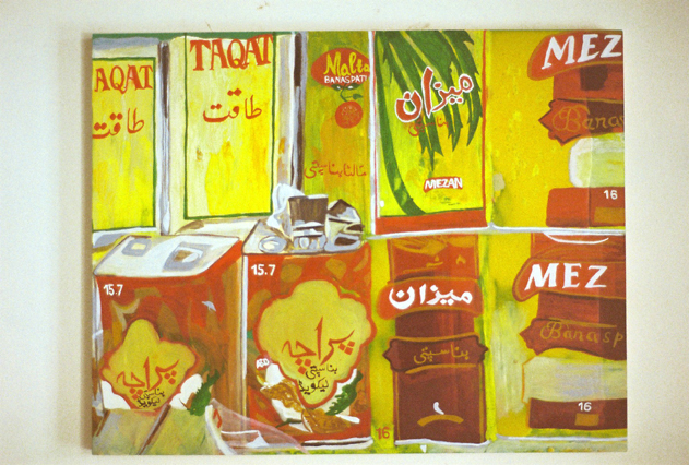 Cooking Oil  Oil on Perspex  60x48 cms