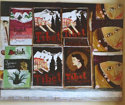 Tibet Snow   Oil on Vinyl  137x100 cms