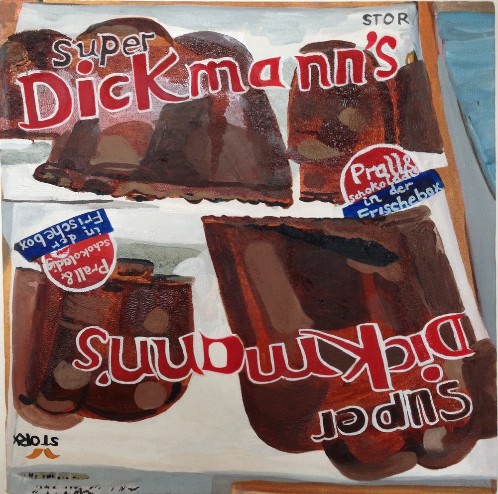 Dickmann's Chocolate  46 x 46 cms // oil on canvas