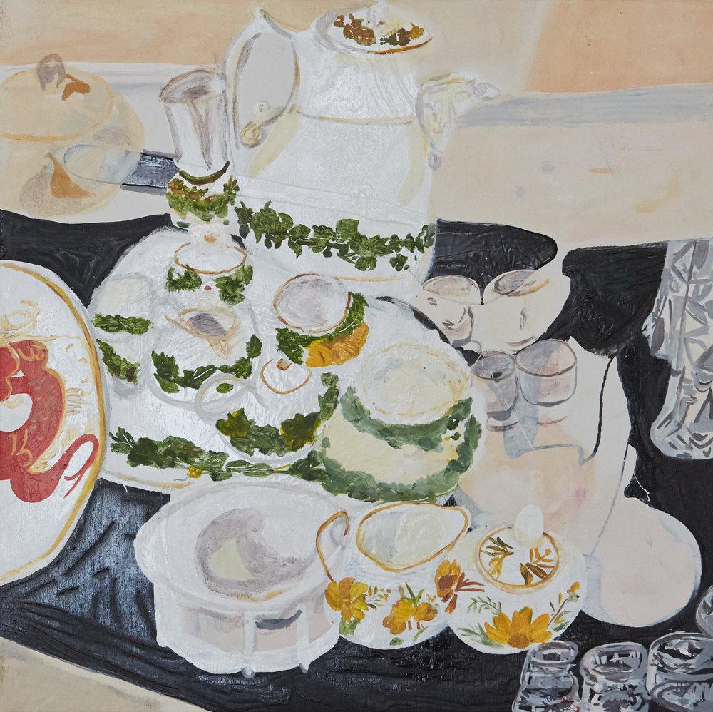 Teatime   50 x 50 cms // Oil on canvas