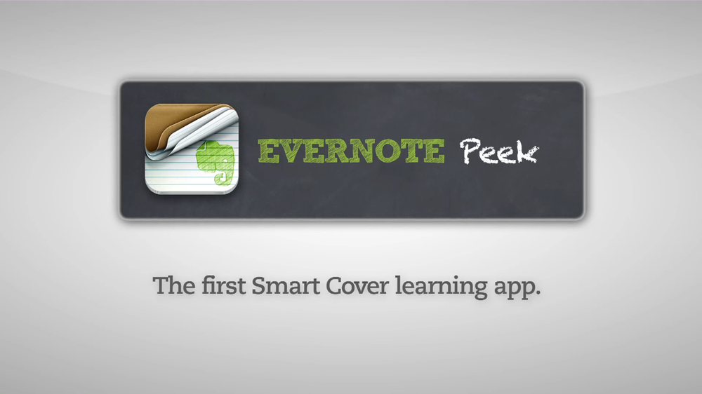 "Slideshow of Stills from ""Evernote Peek"""