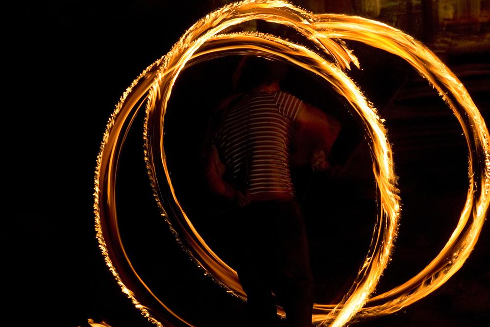 Fire Twirler, Baños, Ecuador