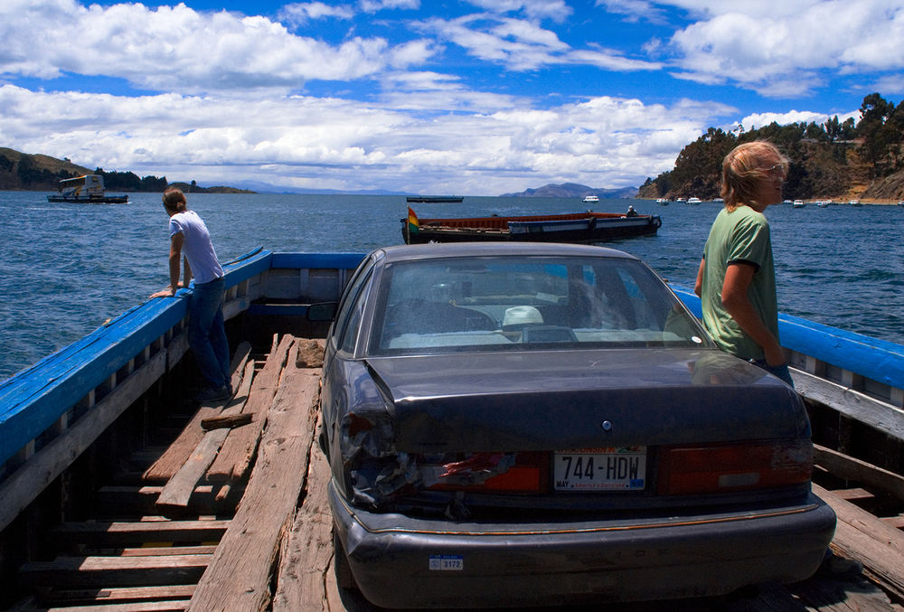 Fording Lake Titicaca