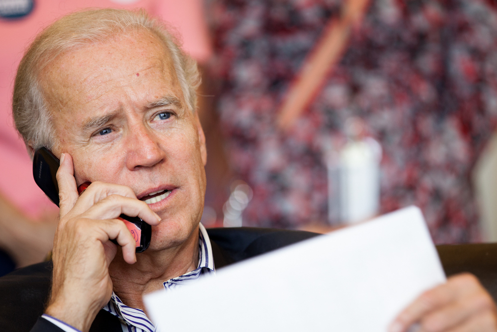 Biden Makes an Unschedule Stop
