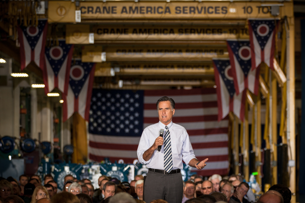 Romney in Mount Vernon, Ohio