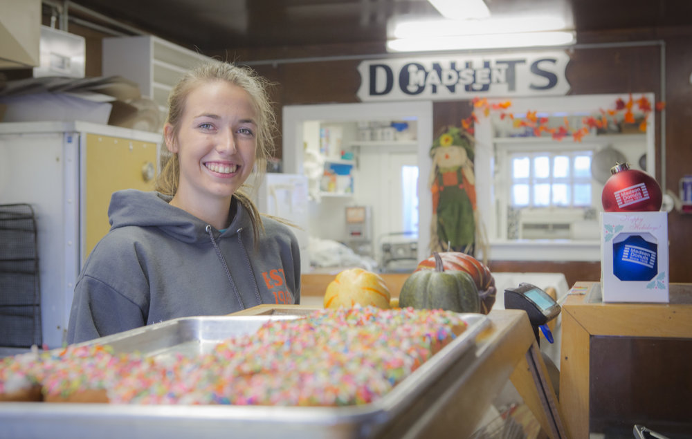 Bailey — Cashier at Madsen's Donuts