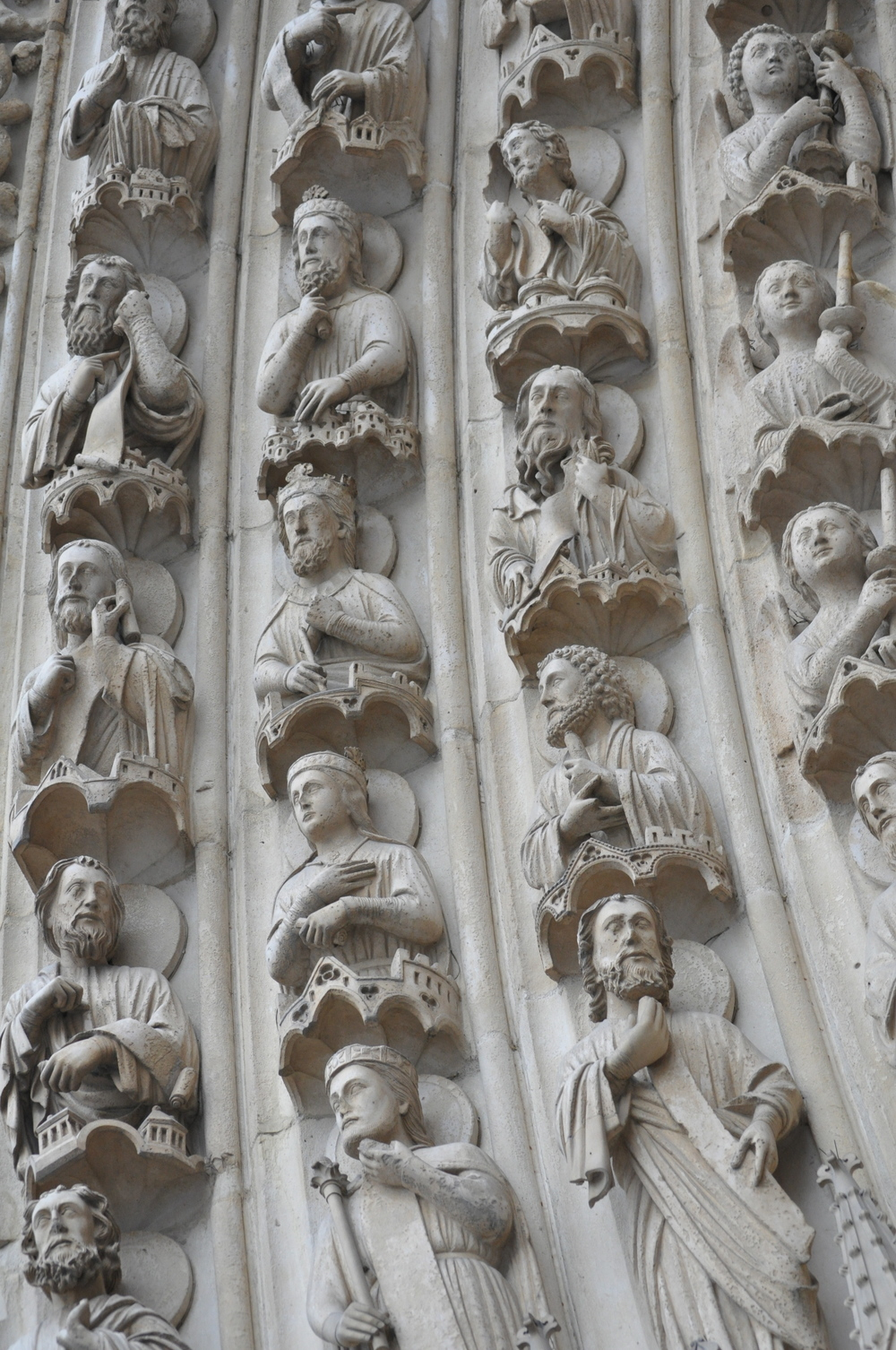 detail of carvings at notre dame
