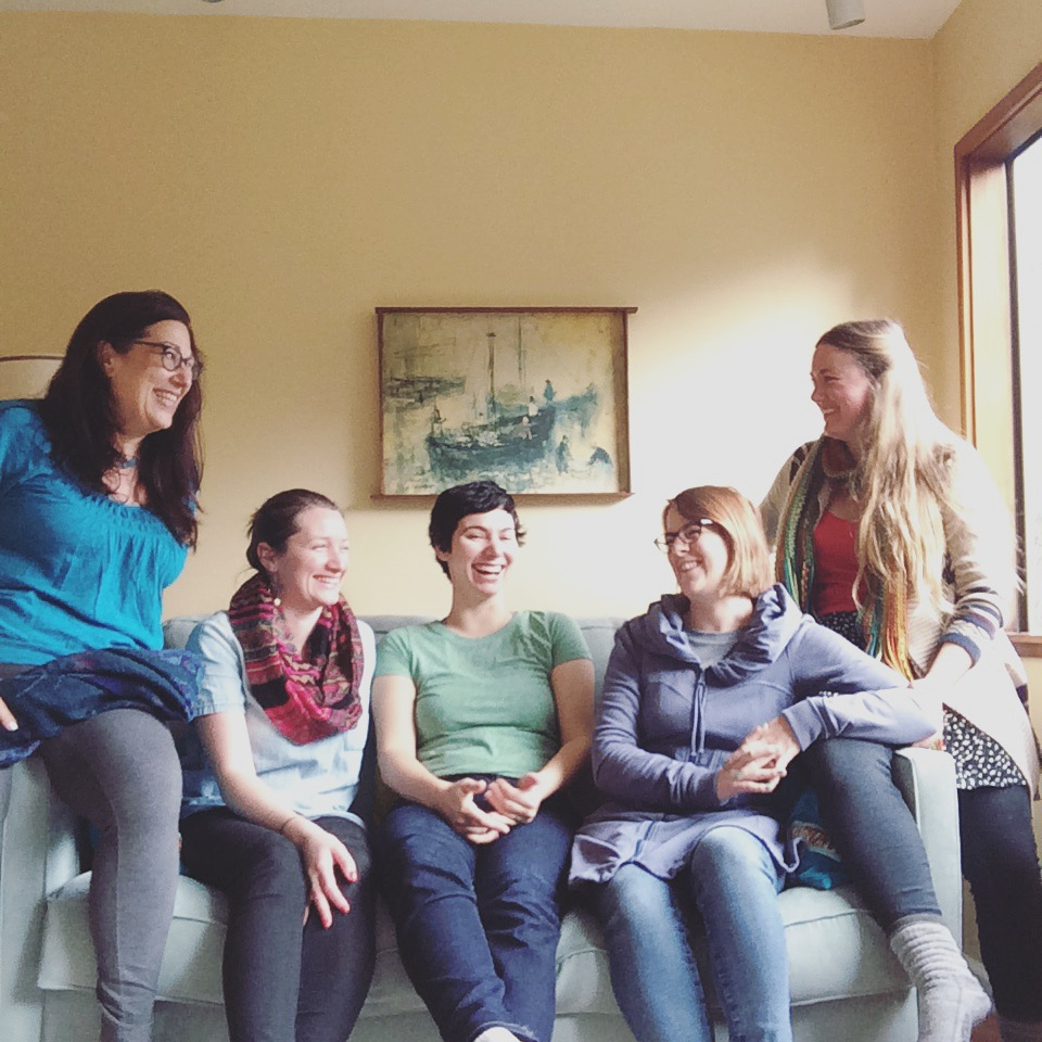 The ladies of the Creative Pursuit Collective (CPC) left to right: Ann Marie, Kyla O-Neil, Laura Bruland Shields, Maggie Hurley, and me! (Not pictured, Creek Lia Van Houten)