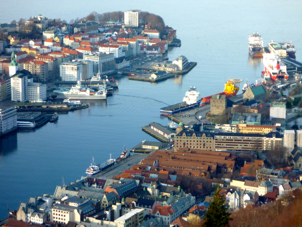Harbour and MS Bergensfjord