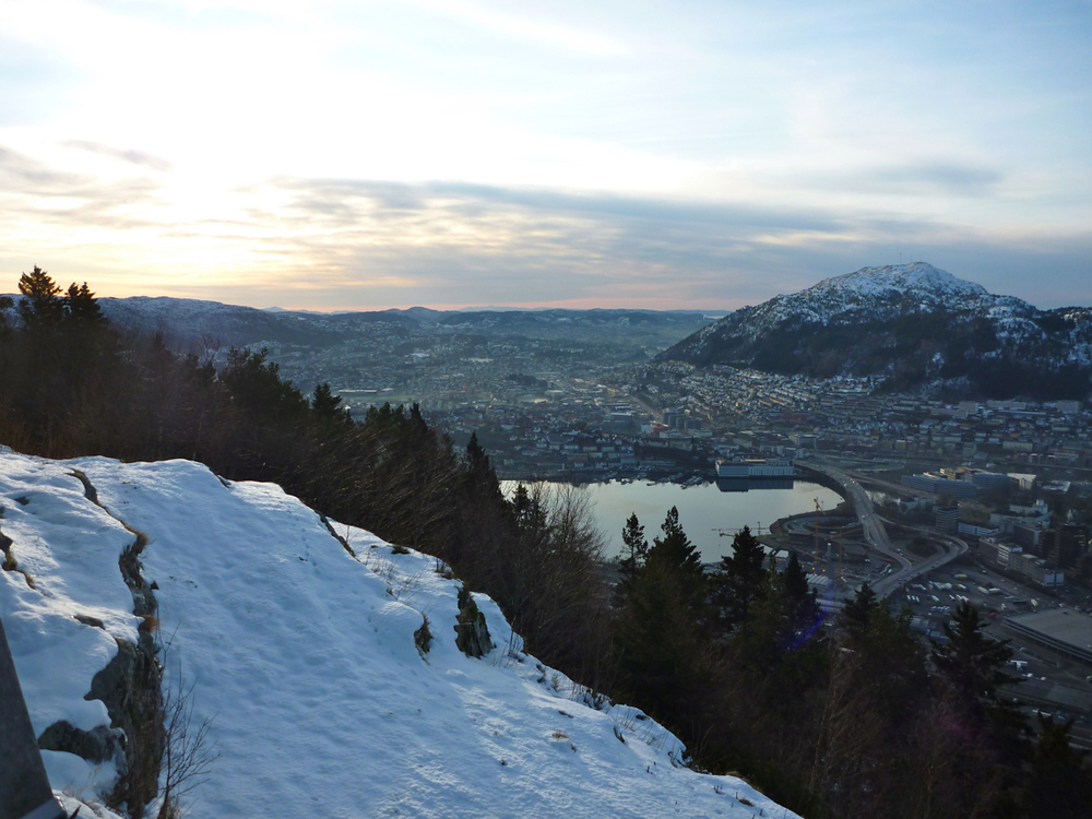 Southern Bergen from top of Fløybana