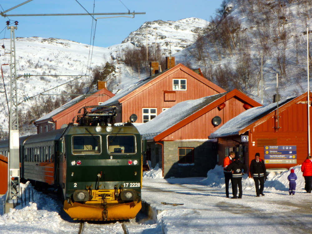 Flåmsbana train at Myrdal
