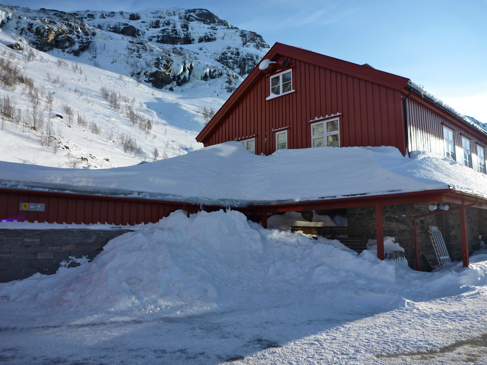 Heavy snow at Myrdal