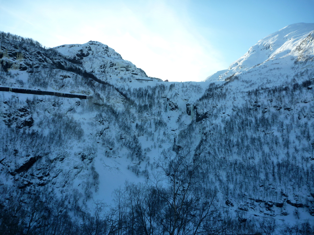 View up to Myrdal station from Kårdal