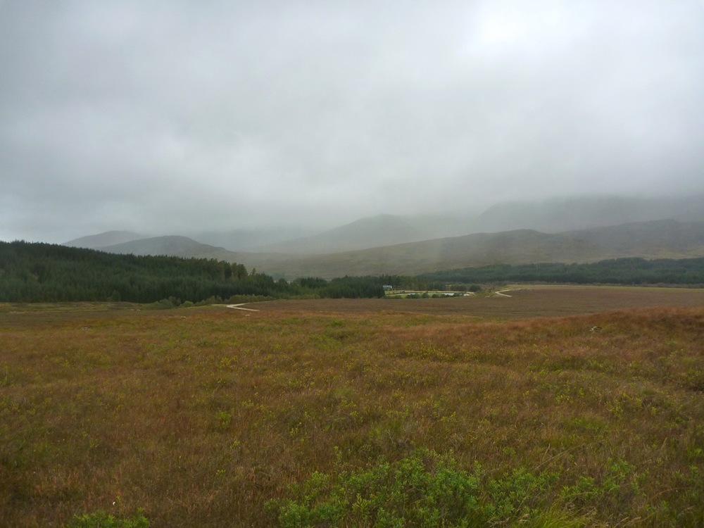Curtains of rain across Luiblea in Glen Spean