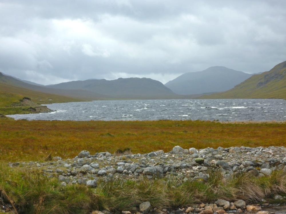 Lochan na h-Eàrba in the wind