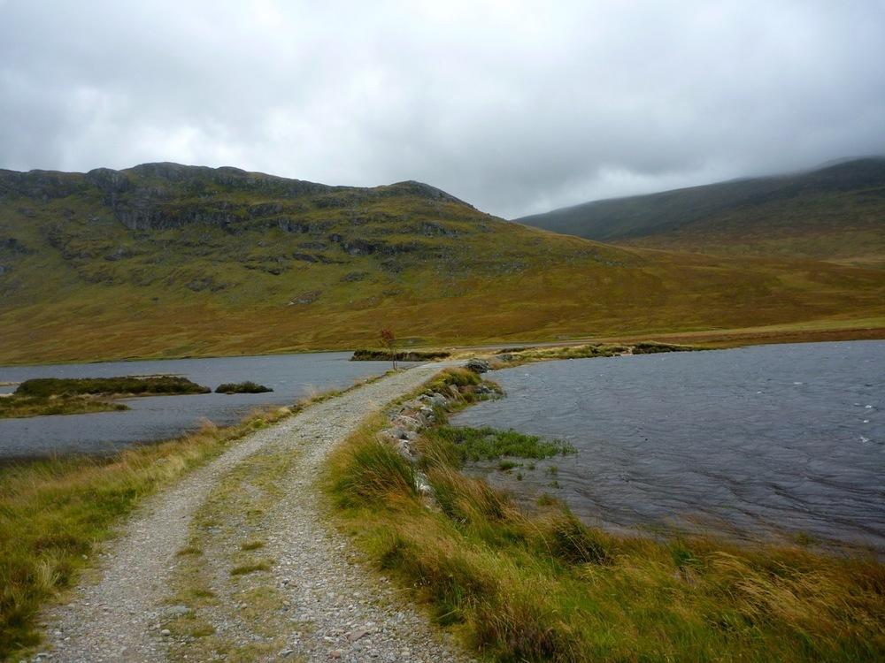Causeway across end of Lochan na h-Eàrba