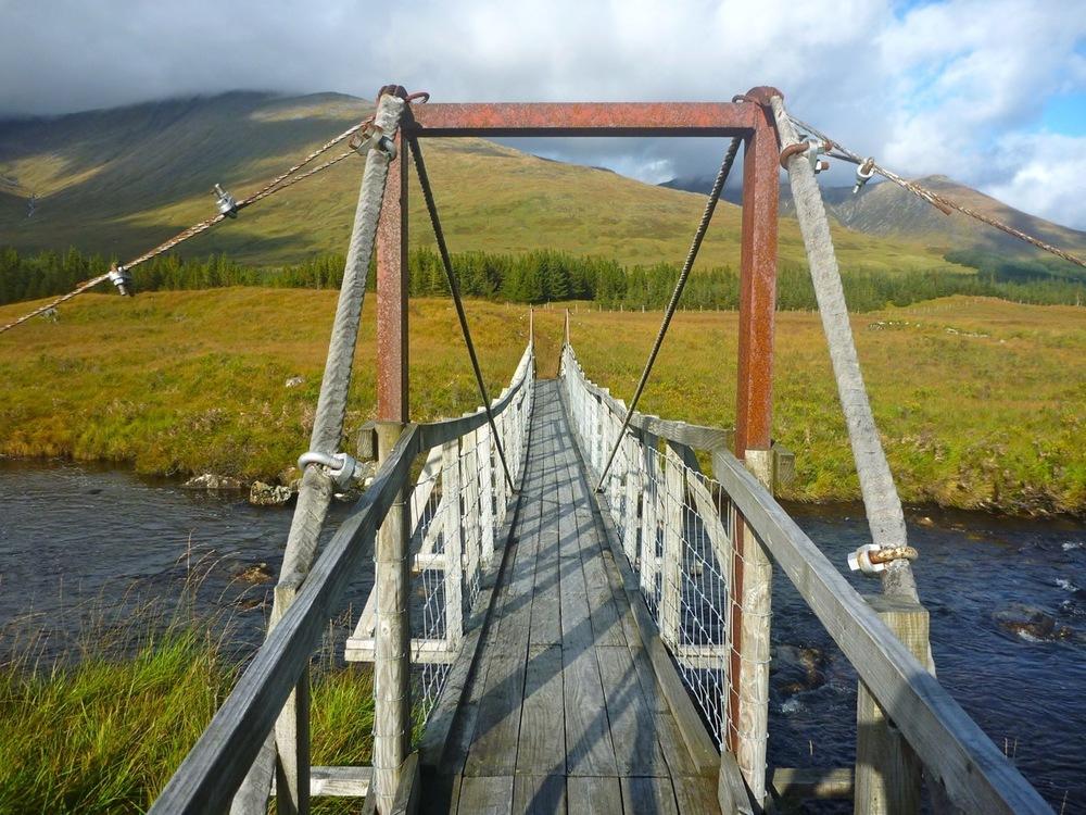 SRoW footbridge across Abhainn Shira
