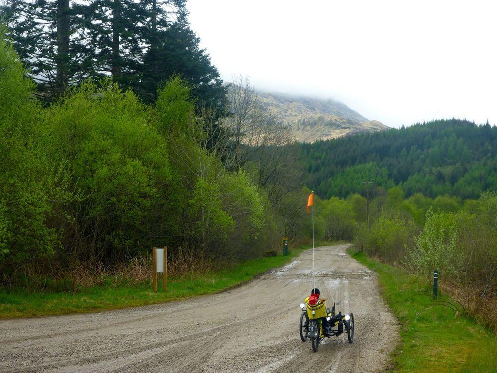 trike at start of 16-mile track to glenfinnan.jpg