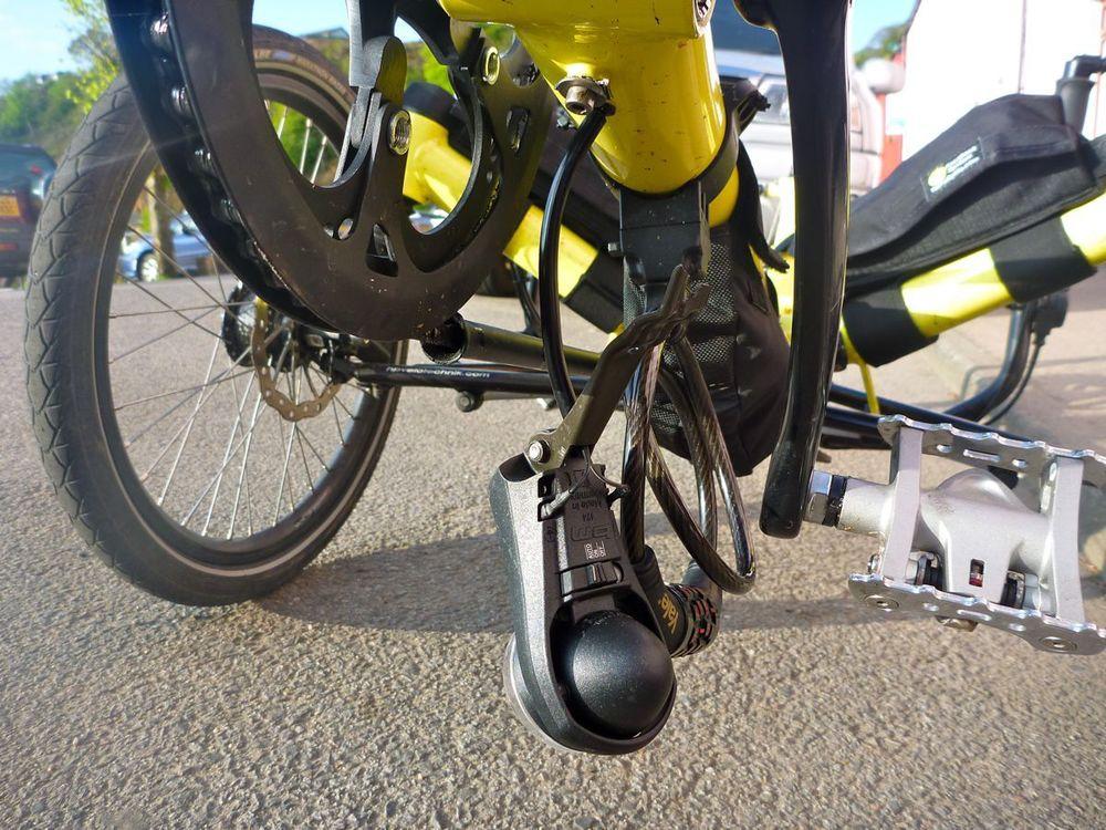 noticed light bracket had broken - probably from rough roads. note good tyre..jpg